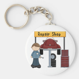 Customizable Auto Repair Shop Tees and Gifts Key Chains