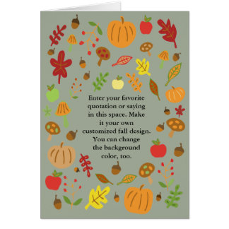 Customizable Autumn Design Card