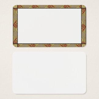 Customizable Aztec Print Border Blank Card