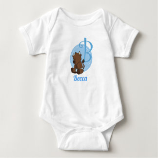 Customizable B is for Bison Baby Bodysuit