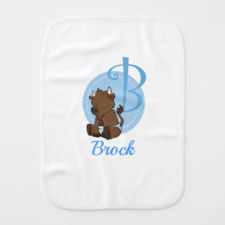 Customizable B is for Bison Burp Cloth
