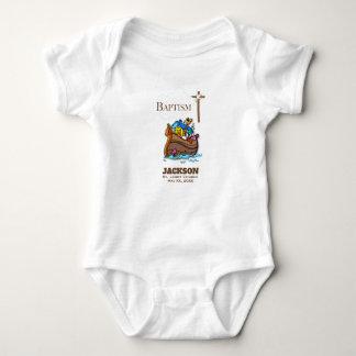 Customizable, Baby Boy Baptism Noah's Ark Baby Bodysuit
