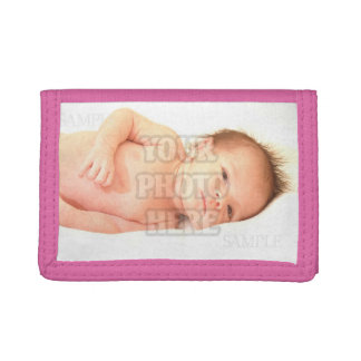 Customizable Baby Photo Template Trifold Wallets