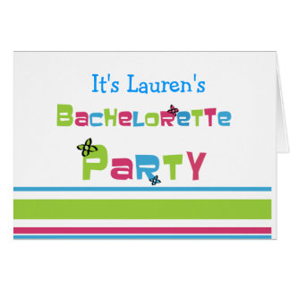 Customizable Bachelorette Party Cards
