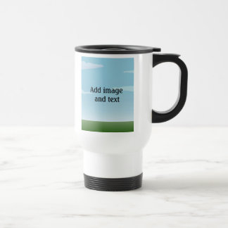 Customizable background (3) 15 oz stainless steel travel mug