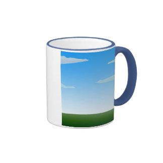 Customizable background (3) ringer coffee mug