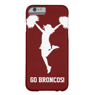 Customizable Background Cheerleader Cheerleading Barely There iPhone 6 Case