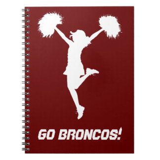 Customizable Background Cheerleader Cheerleading Notebooks