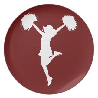 Customizable Background Cheerleader Cheerleading Plate