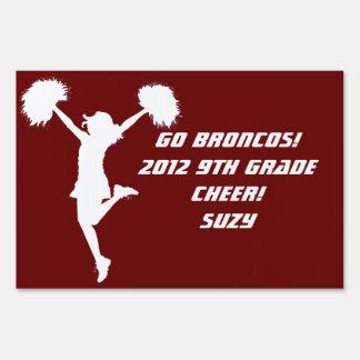 Customizable Background Cheerleader Cheerleading Sign