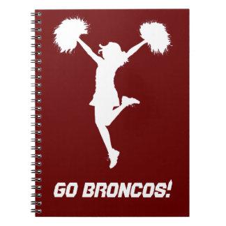 Customizable Background Cheerleader Cheerleading Spiral Note Books