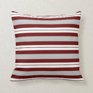 Customizable Background Color - Horizontal Stripes Throw Pillow