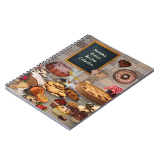 (Customizable) Baking Recipes Notebook