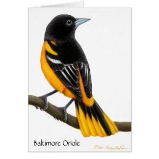 Customizable Baltimore Oriole Wild Bird Card
