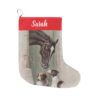 Customizable Barn Buddies Large Christmas Stocking