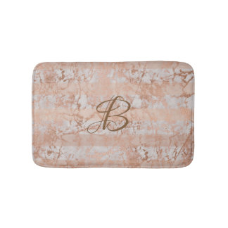 Customizable Bath Mat faux Rose Gold patterns