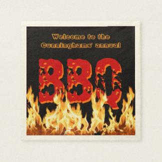 (Customizable) BBQ Napkins on Fire Paper Napkins