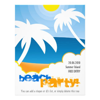 Customizable Beach Party flyer