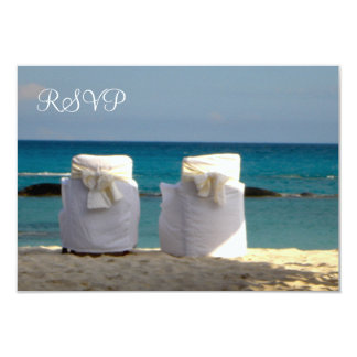 "Customizable Beach Wedding Response Card 3.5"" X 5"" Invitation Card"