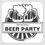 Customizable Beer logo Square Stickers