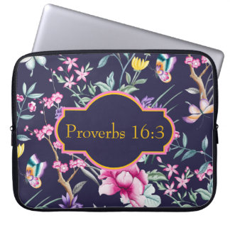 Customizable Bible Verse Floral Neoprene Case