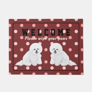 Customizable Bichon Frise Doormat