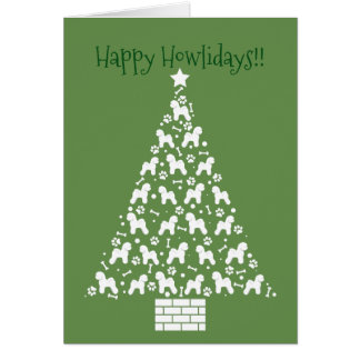 Customizable Bichon Frise Holiday Card