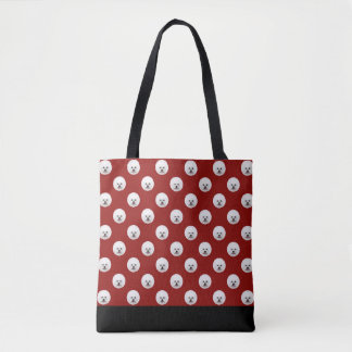 Customizable Bichon Frise Polka Dot Bag