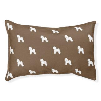 Customizable Bichon Frise Silhouette Dog Bed
