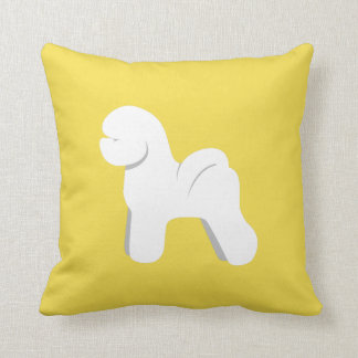 Customizable Bichon Frise Silhouette Pillow
