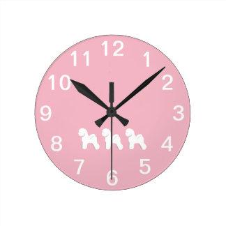 Customizable Bichon Frise Wall Clock