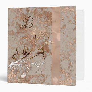 Customizable Binder Faux Rose Gold patterns