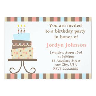 Customizable Birthday Cake Invitation