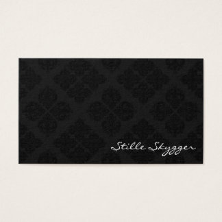 Customizable Black and White Elegant Damask Business Card