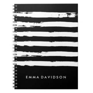 Customizable Black and White Notebook