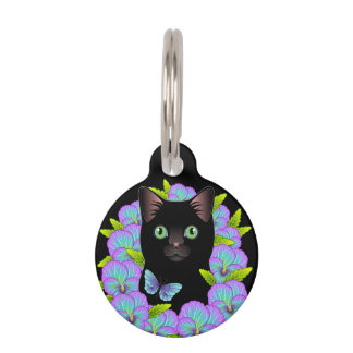 Customizable Black Cat Tag - Sweet Kitty Accessory
