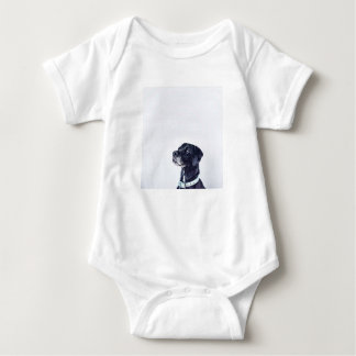 Customizable Black Labrador Retriever Baby Bodysuit