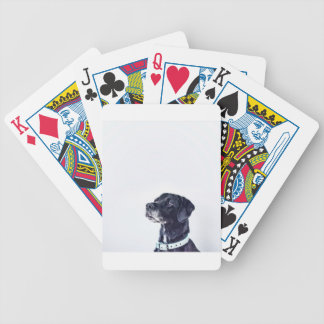 Customizable Black Labrador Retriever Bicycle Playing Cards