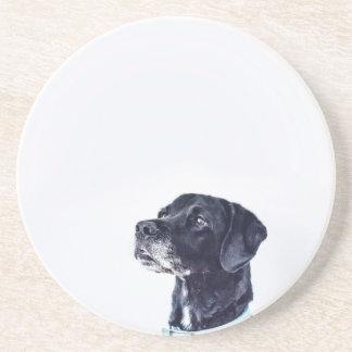 Customizable Black Labrador Retriever Coaster
