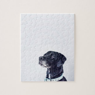 Customizable Black Labrador Retriever Jigsaw Puzzle