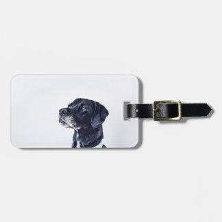 Customizable Black Labrador Retriever Luggage Tag