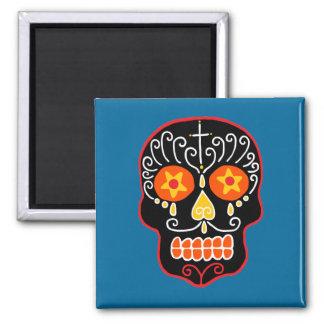Customizable Black Sugar Skull Refrigerator Magnets