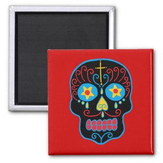 Customizable Black Sugar Skull Fridge Magnets