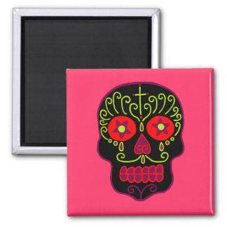 Customizable Black Sugar Skull Refrigerator Magnet