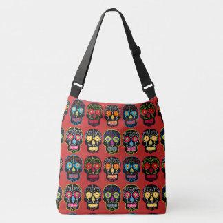 Customizable Black Sugar Skulls Crossbody Bag
