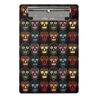 Customizable Black Sugar Skulls Mini Clipboard