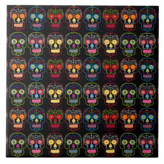 Customizable Black Sugar Skulls Tile