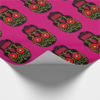 Customizable Black Sugar Skulls Wrapping Paper