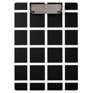Customizable Black & White Check Pattern Clipboard
