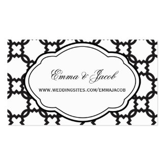 Customizable Black & White Wedding Website Cards Business Card
